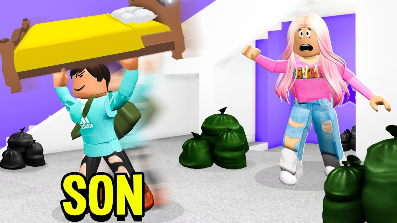 I Adopted A SON In Adopt Me.. He ROBBED My House! (Roblox)