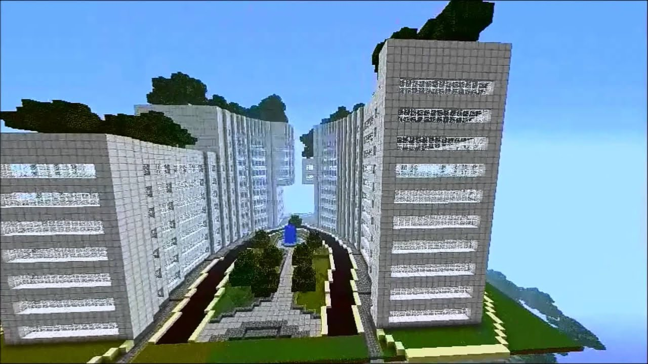 minecraft hotel designs amazing hotel design in minecraft youtube