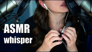 ASMR Whisper, sounds of mouth and breath / Неразборчивый шепот, звуки тктк скск прпр