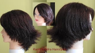 Haircut tutorial | Round layer haircut | Short haircut with graduation (45°) | Short Bob haircut