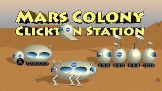 Mars Colony Clickton Station - Mars Surface Vehicles and Pods