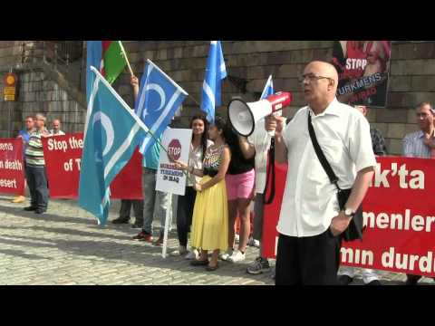Demonstration in Stockholm against the massacre of Turkmens in Iraq