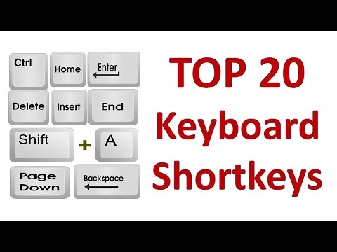 Top 20 Computer Keyboard Shortcut Keys | Computer Shortcut Keys ...