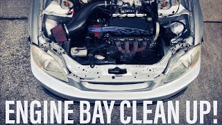 Timing belt & Water Pump + Engine bay clean up PT 1 Project Civic EK