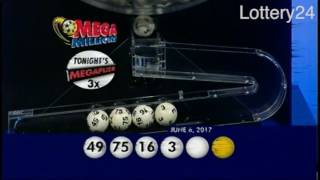 2017 06 06 Mega Millions Numbers and draw results