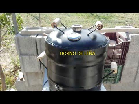 Horno de le a con barril de cerveza youtube - Horno casero de lena ...