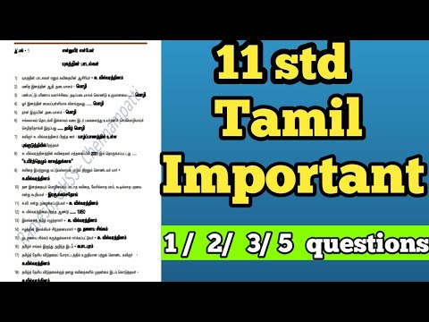 11th standard Tamil important questions with answers MKS Tamil friends