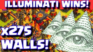 Clash of Clans ILLUMINATI BASE WINS | Town hall 10 War Troll Base 275 Walls