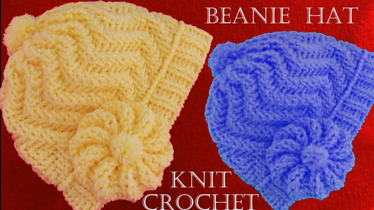 Como tejer gorro boina a Crochet o ganchillo en punto relieve - YouTube a73eb417134