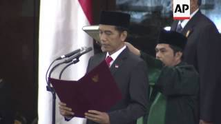 Joko Widodo Sworn In As New Indonesian President