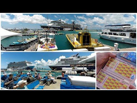 Bermuda Cruise Port At Kings Wharf & Bus Ferry Ride Info (4K)