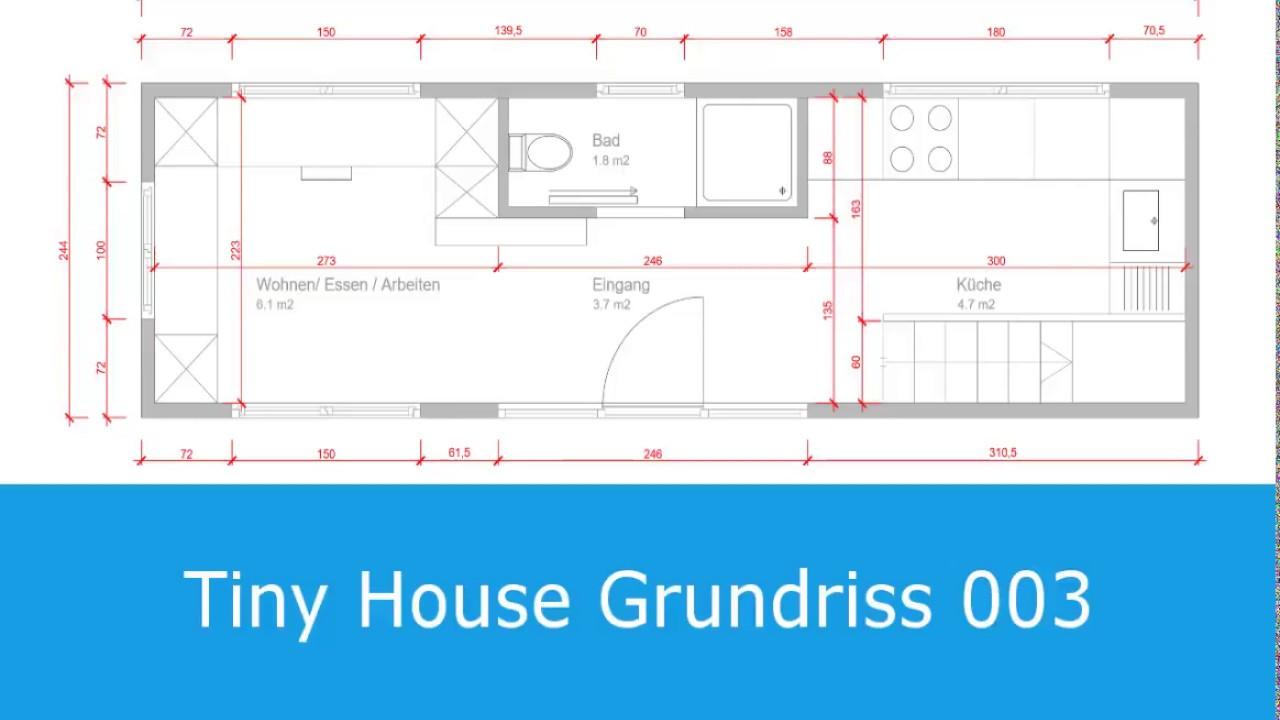 tiny house grundriss mit grosser k che youtube. Black Bedroom Furniture Sets. Home Design Ideas
