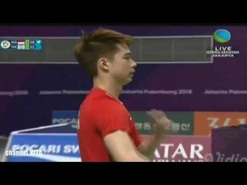SADIS KEVIN & MARCUS VS China Taipe   Semi Final Badminton Asian Games 2018
