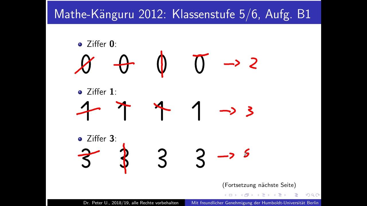 Känguru Mathe Lösungen 2012