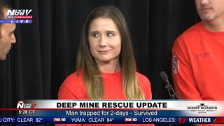 DEEP MINE RESCUE UPDATE: Maricopa County Sheriff, Rescuers Hold Newser (FNN)