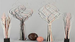 Как сделать декоративные ветки для интерьера своими руками.  How to make decorative