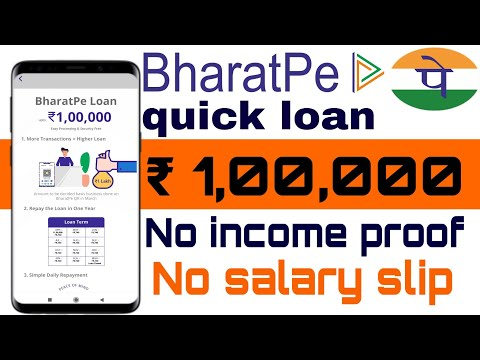 BharatPe quick loan | BharatPe personal loan | without salary slip loan ,Without bank statement loan