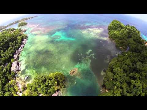 Blue Lagoon, Jamaica - Aerial Video