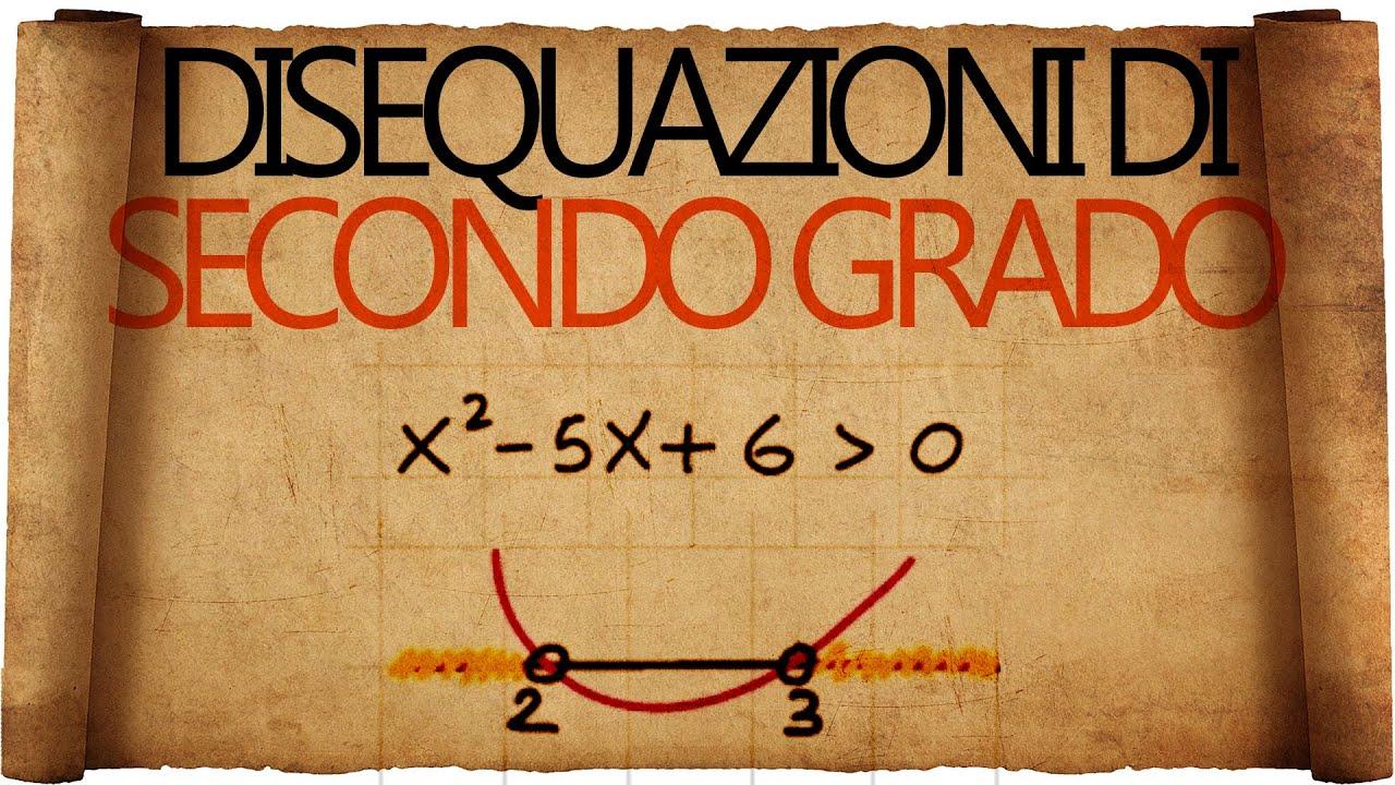 Disequazioni di secondo grado spiegazione con esempi - Tavola di tracciamento secondo grado ...