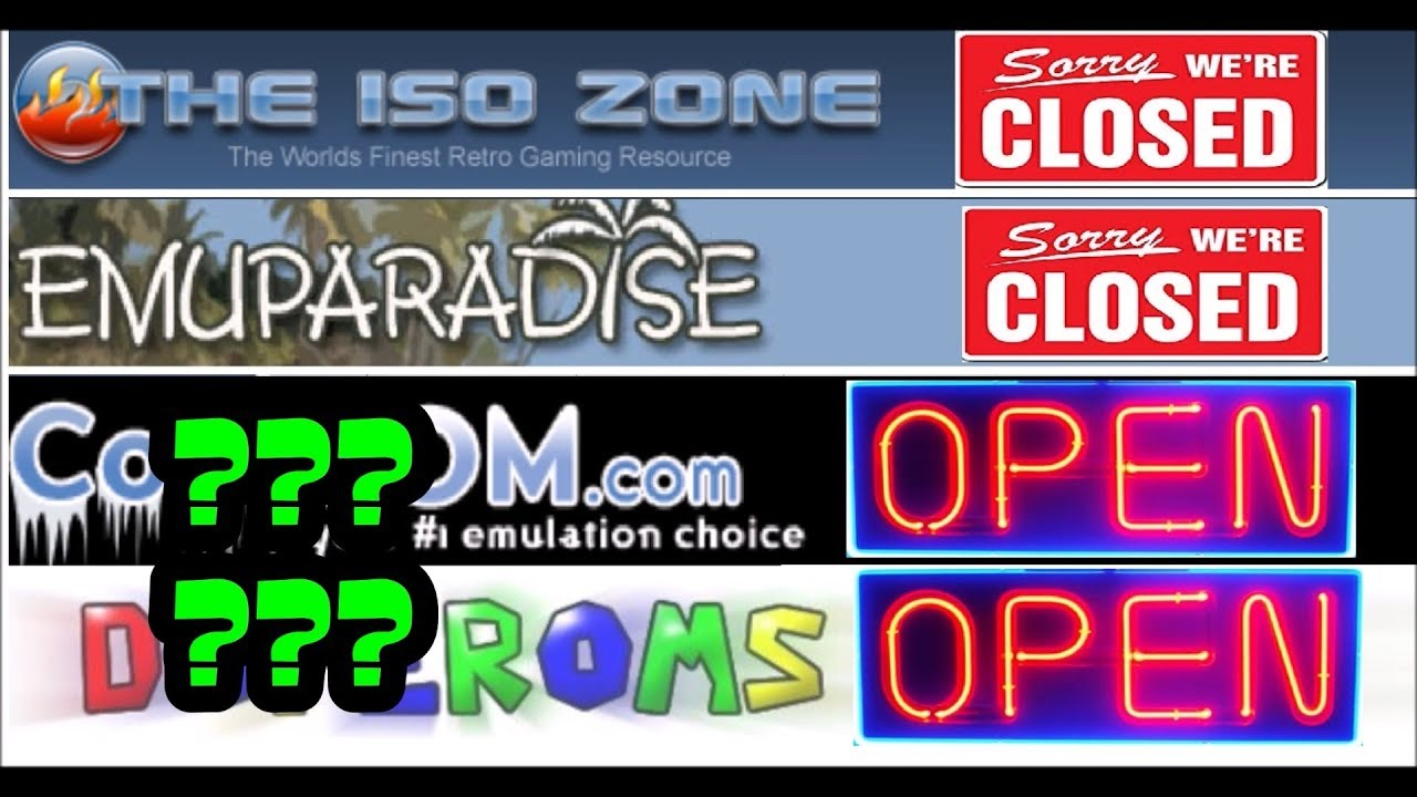 Emuparadise & ISO ZONE gone!! Where does emulation go from here???