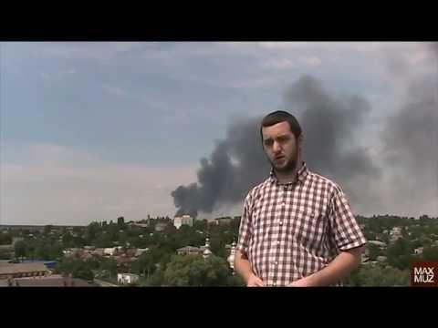 The fire in the city Vasilkov, Ukraine.
