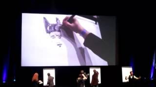 Monaco Anime Game International Conference, 27/2/2016, Live drawing (Tarquin, Kalvachez, Romita Jr)
