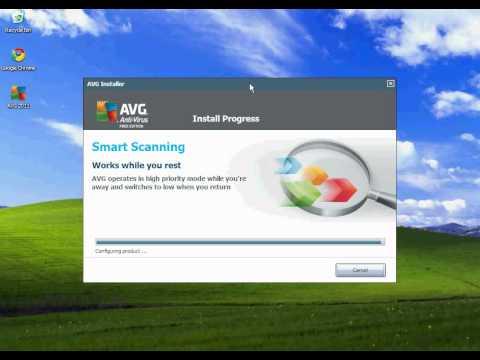 Installing AVG Antivirus on Windows XP.avi