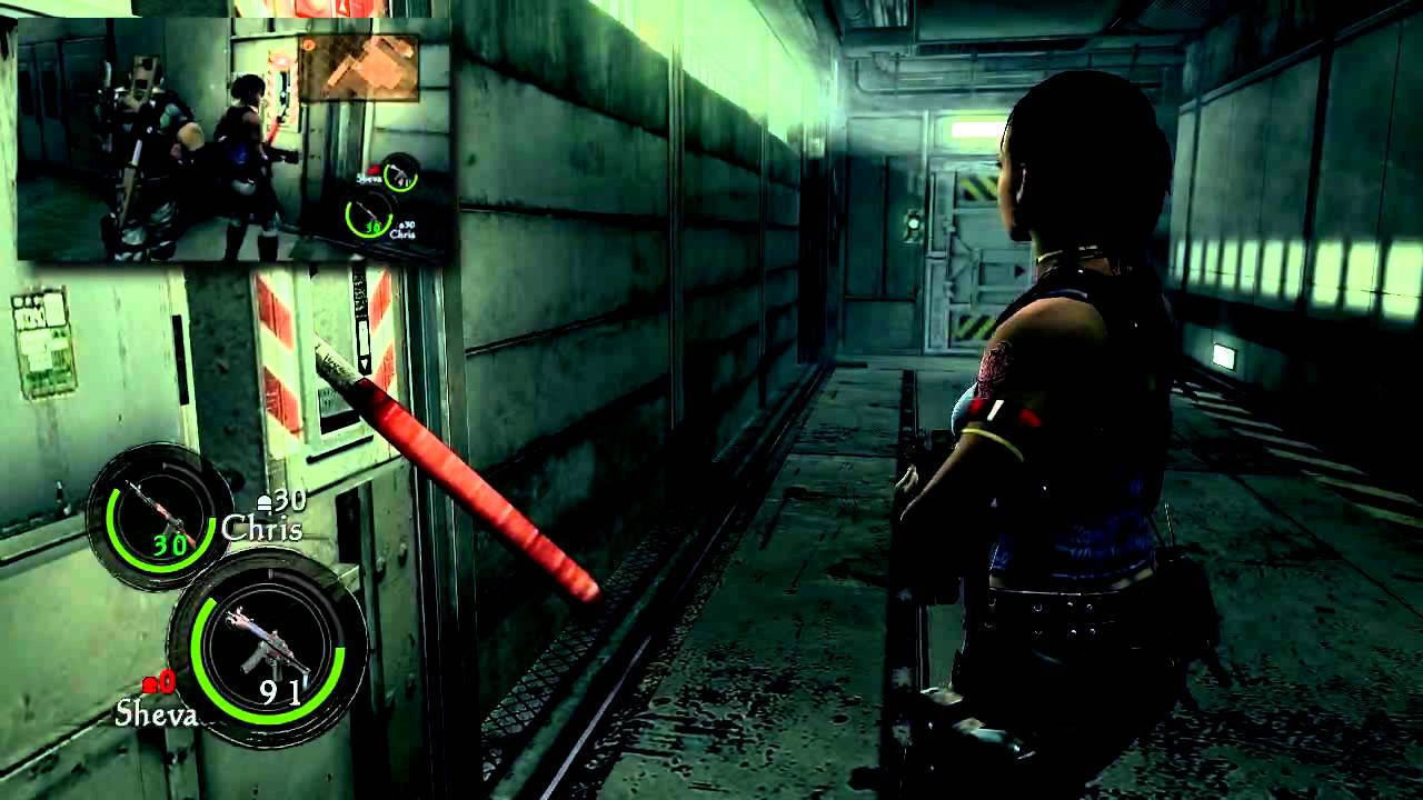 how to play local co op on resident evil 5