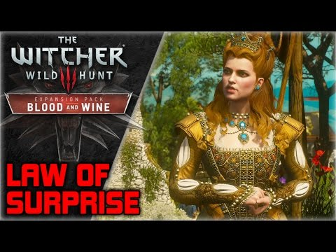 WITCHER 3 Blood and Wine ► Geralt explains Law of Surprise, Gets a vineyard