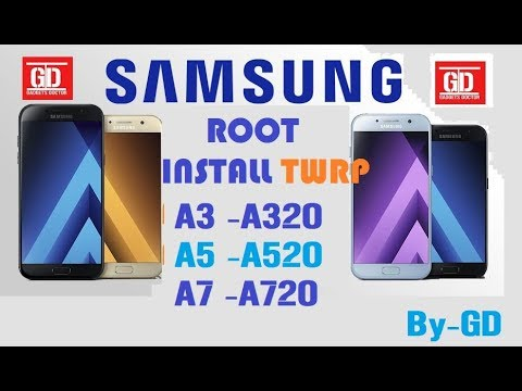 Root Samsung A Series 2017 A3, A5, A7 and Install Custom