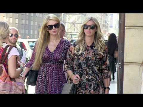 EXCLUSIVE - The Hilton sisters shopping in Paris
