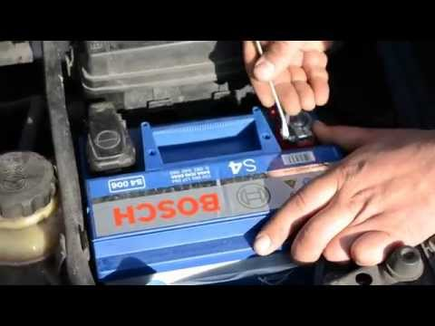 Замена аккумулятора Шевроле Лачетти 1.6 + Bosch S4 60Ah L+
