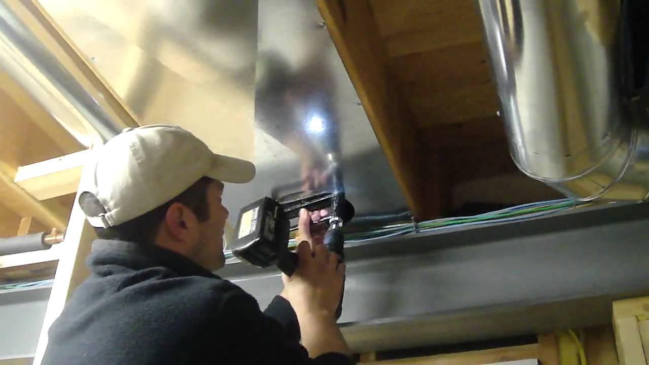 Installing Return Air Duct Youtube