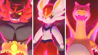 Pokémon Sword & Shield - All Starters Dynamax Moves