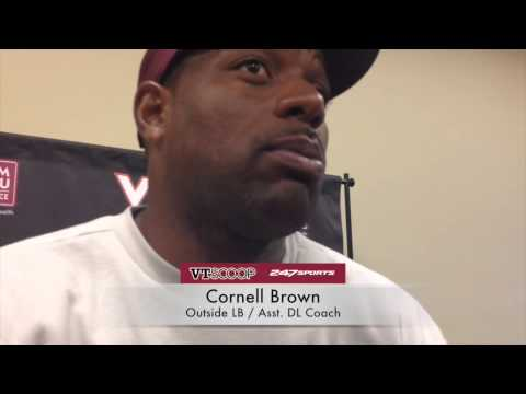 Post-Practice 9/9 with Cornell Brown