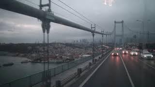 第一ボスポラス大橋をヨーロッパからアジアへ渡る Crossing the First Bosphorus Bridge from Europe to Asia