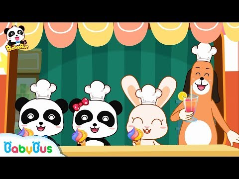 Baby Panda's Smoothie Truck | Make Colorful Ice Creams | BabyBus Cartoon
