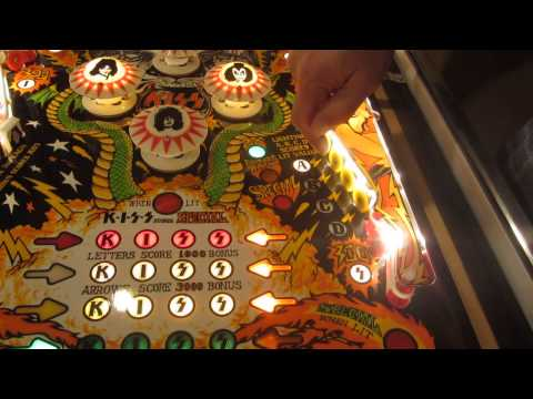 Bally Kiss Pinball Machine (our #7) in Action