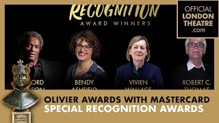 Special Recognition Awards - Olivier Awards 2019 with Mastercard