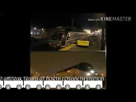 Night Railfanning: NJ Transit and AmTrak Trains At North Elisabeth Station