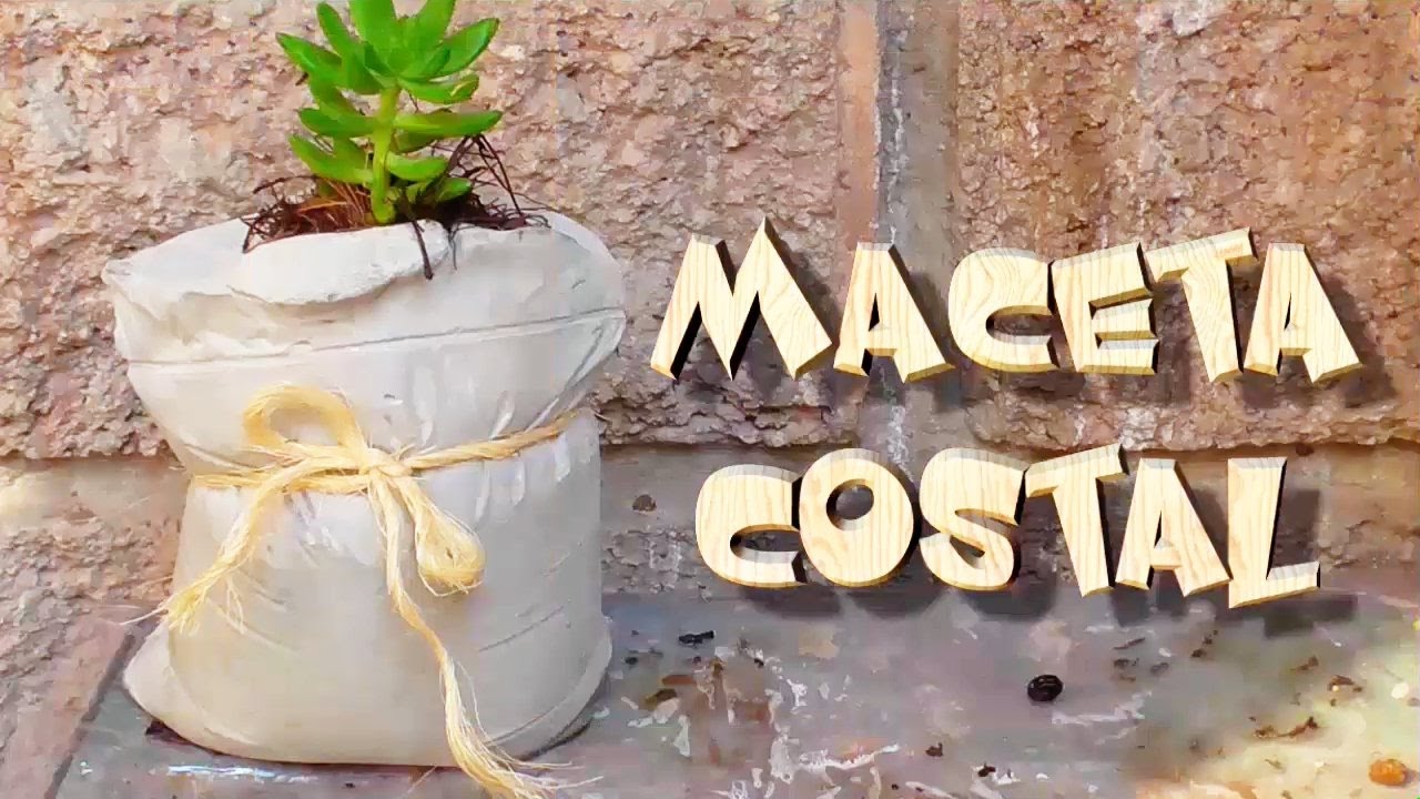 Haz una maceta de cemento sin molde curioart youtube for Macetas de cemento