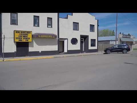 Mannville Alberta. Village. Driving Tour In Canada. Population Around 800.