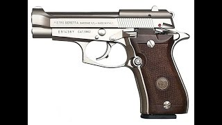 Beretta 84 nickel! At the range.