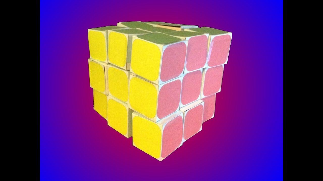 paper rubik 39 s cube youtube. Black Bedroom Furniture Sets. Home Design Ideas