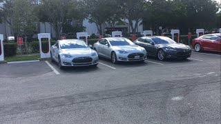 Are Tesla Superchargers too crowded? Join me as I visit 6 Tesla Superchargers along Interstate 95.