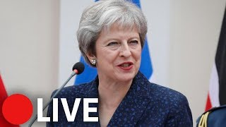 Theresa May holds briefing after EU summit in Salzburg