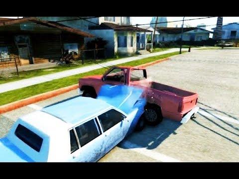 BeamNG - Эпичное разрушение машины из GTA SA и Титана из GTA V