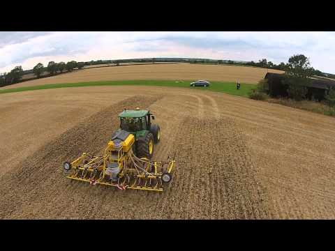 Claydon Drilling Oil Seed Rape from the air
