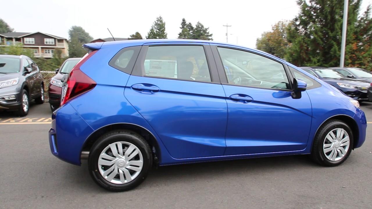 2016 Honda Fit Lx Aegean Blue Gm701449 Seattle