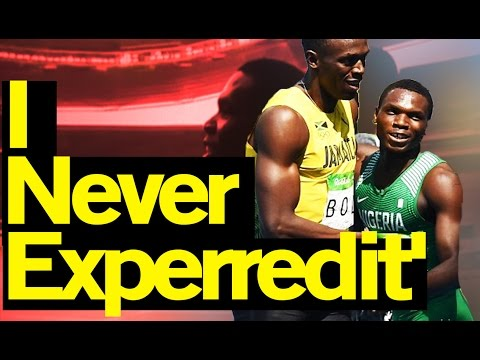 Rio Olympics 2016: Nigerian sprinter, Divine Oduduru finishes behind Usain Bolt in Rio 2016